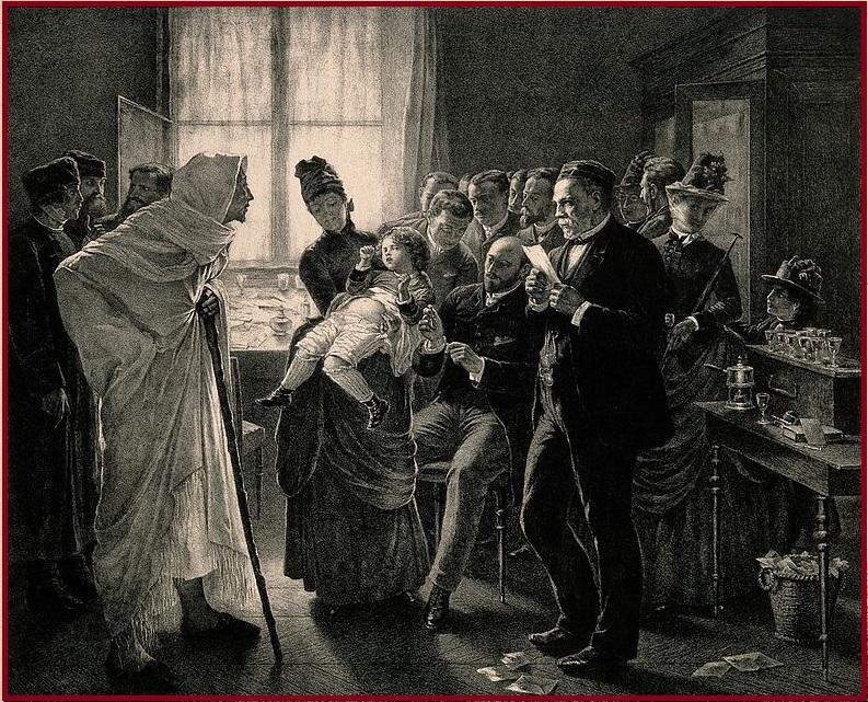 Joseph Meister và mẹ - tiêm phòng cho chó kiêng gì